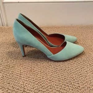 Rebecca Minkoff Mint Suede D'Orsay Pumps   Size 7